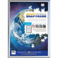 Eurographics SNAP Frame - Silver - Aluminum - (Holds a standard 19.25 x 26.6 inch puzzle) - 1
