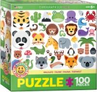Emoji Puzzle Wildlife Animals 100 Piece Jigsaw Puzzle