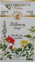 Celebration Herbals  Organic Herbal Tea Caffeine Free Bilberry Leaf