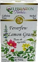 Celebration Herbals  Organic Feverfew Lemongrass Tea Caffeine Free