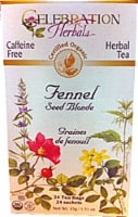 Celebration Herbals  Organic Fennel Seed Blonde Tea Caffeine Free