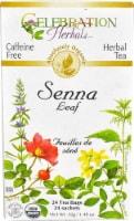 Celebration Herbals  Organic Senna Leaf Herbal Tea Caffeine Free - 24 ct / 1.48 oz