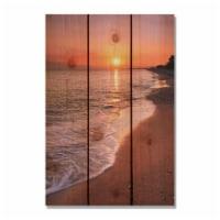 Day Dream HQ SUB1624 16 x 24 in. Sunset Beach Inside & Outside Cedar Wall Art