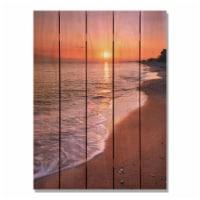 Day Dream HQ SUB2836 28 x 36 in. Sunset Beach Inside & Outside Cedar Wall Art