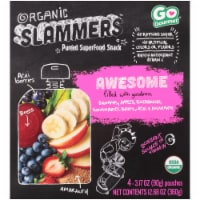 Organic Slammers Awesome Acai Strawberry Superfood Snack Pouch