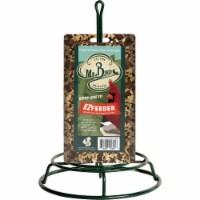 Mr. Bird Green Metal Seed Log Bird Feeder 800 Pack of 6