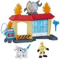 Playskool Heroes Transformers Rock Garage Rescue Bots Fireman Fireplug Griffin Hasbro - 1 unit