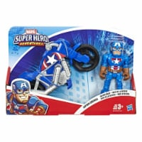 Hasbro Marvel Super Hero Adventures Action Figure and Motorcycle - Assorted