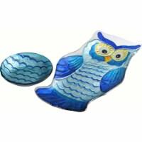 LS Arts GP-017 Chip N Dip Platter - Owl - 1
