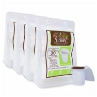 4-Pack EZ-Carafe K-Carafe Paper Filters for Keurig 2.0 Reusable Coffee Pods (120 Filters) - 1