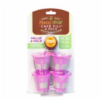 Cafe Fill 4-Pack Reusable Refillable Coffee Pod Filter Capsules Plus Coffee Scoop - 1