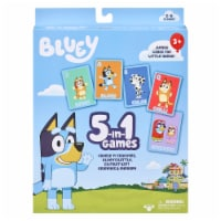 Moose Games Bluey 5-in01 Card Games - 1 ct