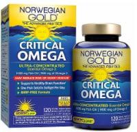 Renew Life Norwegian Gold Critical Omega Natural Orange Omega-3 Oil Supplement Softgels - 120 ct