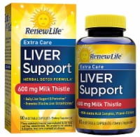 Renew Life  Liver Support™ Extra Care - Milk Thistle Liver Detox Supplement - 90 Vegetable Capsules