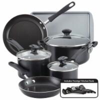 Farberware Cookstart Aluminum DiamondMax Nonstick Cookware Set - Black
