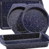 Paula Deen Nonstick Speckled Bakeware Set, Deep Sea Blue Speckle - 4 Piece