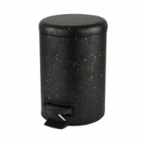 Elle Decor EL-44160-BLACK 3 Litre Speckled Design Step Bin with Lid Trash Can, Black - 1