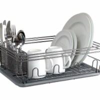 Laura Ashley LA-92546-GREY Speckled Dish Rack Set, Grey