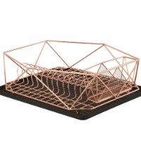 Kitchen Details 23378-COPPER Geode Dish Rack, Copper