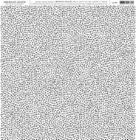 American Crafts Patterned Single-Sided Cardstock 12 X12 -Black & White Dot - 1