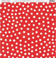 American Crafts Patterned Single-Sided Cardstock 12 X12 -Red & White Dots - 1