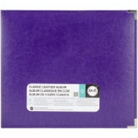 We R Memory Album 12x12 Leather D-Ring Grape Soda - 1