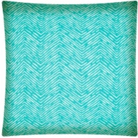 Joita Water Wave Polyester Outdoor Zippered Pillow Cover in Turquoise Blue - 1