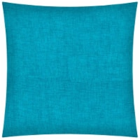 Joita Weave Square Polyester Outdoor Zippered Pillow Cover in Aqua Blue