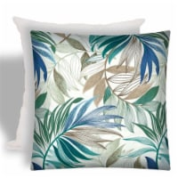 Joita St Ives Square Polyester Outdoor Zippered Pillow Cover with Insert in Blue - 1