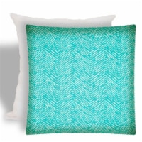 Joita Water Wave Polyester Zippered Pillow Cover with Insert in Turquoise Blue - 1
