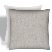 Joita Weave Polyester Outdoor Zippered Pillow Cover with Insert in Light Gray - 1