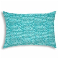 Joita Water Wave Rectangular Sewn Closure Polyester Pillow in Turquoise Blue - 1