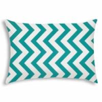 Joita Buzz Rectangular Sewn Closure Polyester Pillow in Turquoise Blue/White