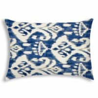 Joita Brindle Rectangular Sewn Closure Polyester Outdoor Pillow in Blue