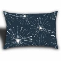 Joita Fireworks Rectangular Sewn Closure Polyester Outdoor Pillow in Navy Blue - 1