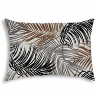 Joita Plume Rectangular Sewn Closure Polyester Outdoor Pillow in Brown/Black - 1