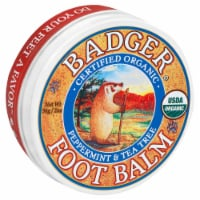 Badger Organic Foot Balm Peppermint & Tea Tree