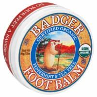 Badger Organic Foot Balm Peppermint & Tea Tree - 2 fl oz