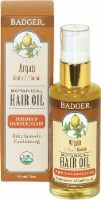 Badger   Argan Botanical Hair Oil - For Dry & Damaged Hair