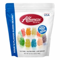 Albanese Fat Free and Gluten Free Sour Flavor Gummi Bears