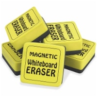Magnetic Whiteboard Eraser, 2  x 2 , Yellow, Pack of 12 - 1