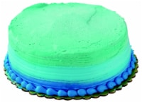 Double Layer Blue Ombre White Cake with Buttercream Icing - 43 oz