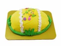 Empire Foods Easter Egg Shaped Yellow Buttercream Cake