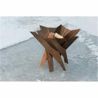 Curonian Q4-WIAW-NTQ7 Wood Burning Fire Pit Phoenix Blossom Stainless Steel