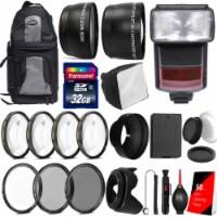 All Inclusive Premium Accessory Bundle For Canon Rebel T7 T6 T5 T100 Dslr Camera - 1