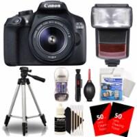 Canon Eos 1300d / T6 18mp Dslr Camera W/ 18-55mm Lens , Ttl Flash & Accessories - 1
