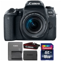 Canon Eos 77d 24.2mp Digital Slr Camera With 18-55mm Is Stm Lens And 16gb Memory Card - 1