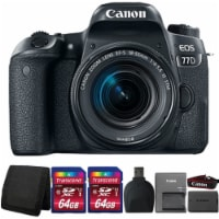 Canon Eos 77d 24.2mp Digital Slr Camera With 18-55mm Is Stm Lens And Accessory Bundle - 1