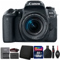 Canon Eos 77d 24.2mp Dslr Camera With 18-55mm Lens And Accessory Kit - 1