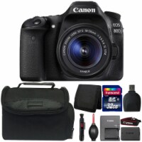 Canon Eos 80d 24.2mp Digital Slr Camera With 18-55mm Is Stm Lens And Accessory Kit - 1